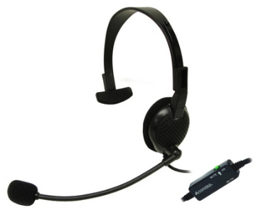 AND-C1-1024300-1 ANDREA ANC700 PATENTED MONAURAL ANC BUSINESS HEADSET WITH MICROPHONE