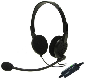 AND-C1-1024400-3 ANDREA ANC750 PATENTED STEREO BINAURAL ANC BUSINESS HEADSET WITH MICROPHONE