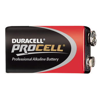 PC1604 DURACELL PROCELL 9 VOLT BATTERY