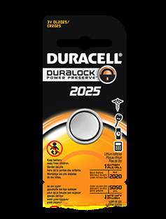 DUR-CR2025 DURACELL COMP31 3V FLAT LITH BATTERY - USE IN WS4939