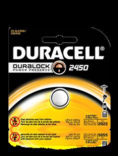 CR2450 DURACELL 3V FLAT LITHIUM BATTERY FOR DSC MICRO