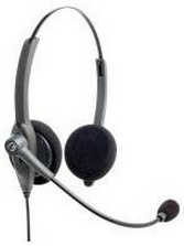 VXI-202771 VXI PASSPORT 21V-DC SINGLE WIRE OVER THE HEAD BINAURAL HEADSET WITH NOISE CANCELLING MIC