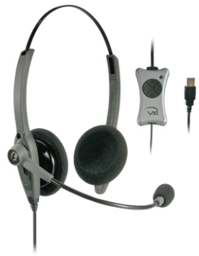VXI-203012 VXI TalkPro UC2 Unified Communications USB Headset with DSP- Voice Recognition Microphone, QD, Volume control, Mic Mute,