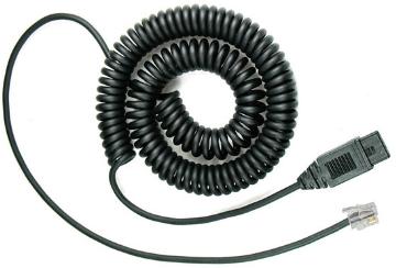 VXI-30047 VXI QD1026V LOWER CORD FOR VXI POWERLINE, NORTEL, SP SERIES PLANTRONICS AMPS & GN MPA II