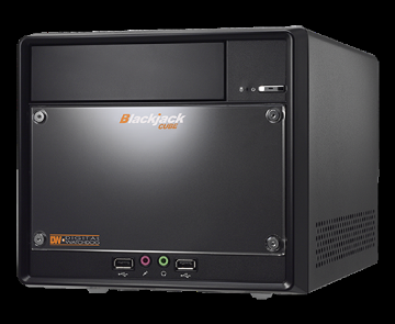 DW-BJCUBE3T DIGITAL WATCHDOG BlackJack Cube NVR Powered by DW Spectrum IPVMS. 4 camera licenses pre-installed expandable to 32 cameras. DVI-D/HDMI, Linux/Windows 7, 3TB HDD, 5 Year Limited Warranty