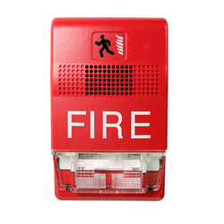 "EDEG1RF-HDVM EDWARDS HORN/STROBE, WALL MT., 15-110 CD, MARKED ""FIRE"", 24VDC, RED"
