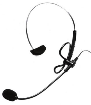 AND-C1-1009500-39 ANDREA NC-8 ULTRALIGHT HEAD-MOUNTED NOISE-CANCELING MICROPHONE WITH 3.5MM PLUG