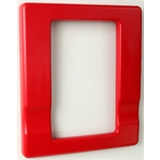 """EDEG1RT EDWARDS TRIM PLATE FOR WALL MT. HORN/STROBES, 1-GANG TO 4"""" BOX, RED ************************** CLEARANCE ITEM- NO RETURNS *****ALL SALES FINAL****** **************************"""
