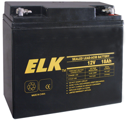 ELK12180 ELK 12V 18AH BATTERY RECHARGEABLE ************************* SPECIAL ORDER ITEM NO RETURNS OR SUBJECT TO RESTOCK FEE *************************