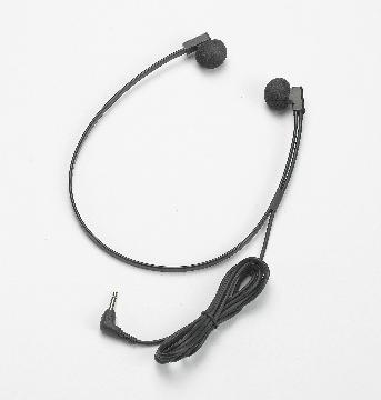 VEC-SPECTRARA VEC TWIN-SPEAKER HEADSET W/ 3.5MM RIGHT-ANGLE PLUG AND BLACK STORAGE POUCH