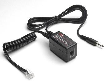 VEC-TRX2035B VEC BLACK TELEPHONE RECORD COUPLER W/ 3.5MM PLUG & 3' CORD