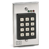 212I LINEAR FLUSHMOUNT INDOOR KEYPAD; SINGLE GANG DESIGN. STAINLESS FACE PLATE. 0-211111