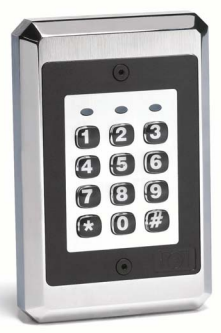 212ILW LINEAR OUTDOOR FLUSH MOUNT KEYPAD. ARCHITECTURAL LOOK, BACKLIT KEYS, SOUNDER, SINGLE RELAY OUTPUT. 10 - 30 VDC; 12 - 24 VAC OPERATION. 0-230722