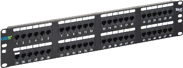 ICMPP0485E ICC PATCH PANEL 110 TYPE CAT 5E 48 PORT UNIVERSAL WIRING