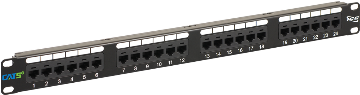 ICMPP0245E ICC PATCH PANEL 110 TYPE CAT 5E 24 PORT UNIVERSAL WIRING