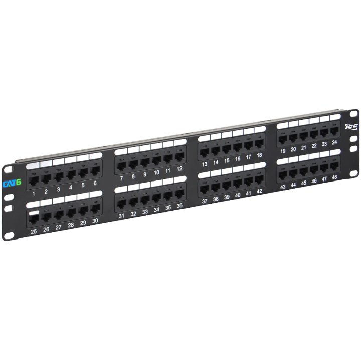 ICMPP04860 ICC PATCH PANEL CAT 6 48-PORT 2 RMS ************************* SPECIAL ORDER ITEM NO RETURNS OR SUBJECT TO RESTOCK FEE *************************