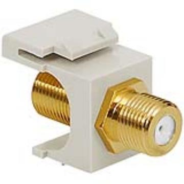 IC107B5GWH ICC F CONN COUPLER FEMALE TO MALE GOLD PLATED WHITE