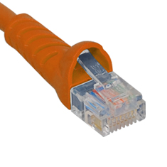 ICPCSJ14OR ICC PATCH CORD, CAT 5E, MOLDED BOOT, 14' OR