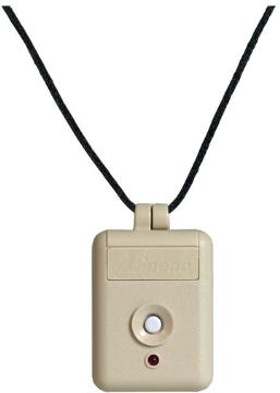 ET219 LINEAR 1 CHANNEL PENDANT BEIGE CASE WHITE BUTTON WITH CHAIN SNT00055 ************************** CLEARANCE ITEM- NO RETURNS *****ALL SALES FINAL****** **************************