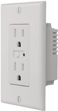 WO15Z-1 LINEAR Z-WAVE SINGLE WALL OUTLET - 1800 WATT MAX