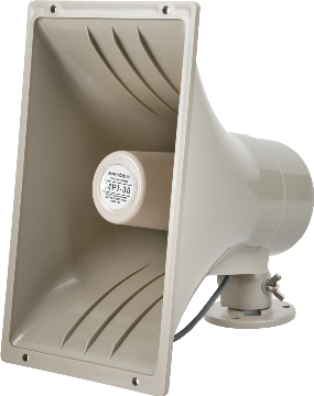 MPI-30 UTC SPEAKER, 8 OHM, RECTANGULAR HORN, INDUSTRY'S MOST POPULAR AND DEPENDABLE HORN-STYLE SPEAKER. RATED 30 WATTS NOMINAL, 50 WATTS PEAK. SWIVEL MOUNTING BRACKET, LIGHT BEIGE ************************* SPECIAL ORDER ITEM NO RETURNS OR SUBJECT TO RESTOCK FEE *************************