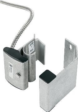 "2325A-L UTC OVERHEAD/PANEL DOOR TRACK MOUNT CONTACT W/ARMORED CABLE, UP TO 3"" GAP SIZE. CLOSED LOOP; NORMALLY OPEN. 2' STAINLESS STEEL ARMORED CABLE. FORM A"