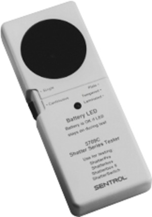 5709C-W UTC SHATTERPRO HAND-HELD GLASSBREAK TESTER, HAND-HELD TESTER W/REAL GLASSBREAK SOUNDS