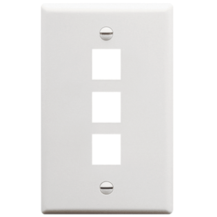 IC107F03WH ICC FACE PLATE 3 PORT WHITE