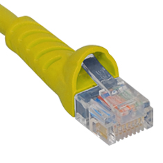 ICPCSJ14YL ICC PATCH CORD, CAT 5E, MOLDED BOOT, 14' YL