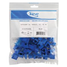 IC107E5CBL ICC MODULE, CAT 5E, EZ, 25 PK, BLUE