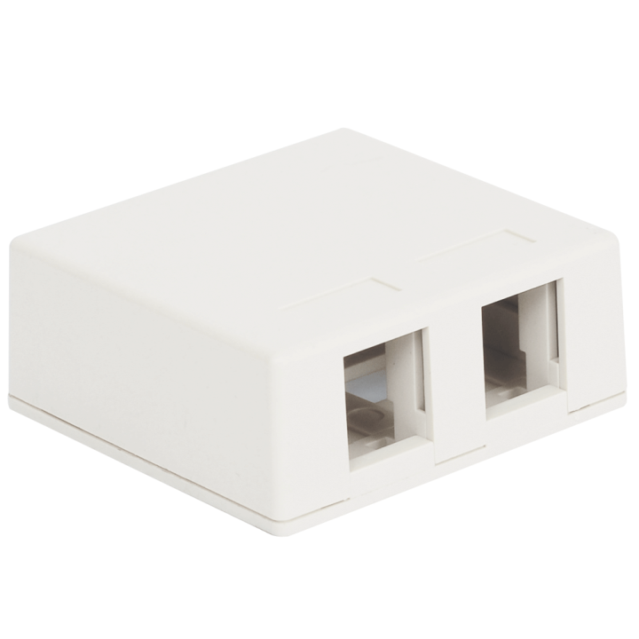 IC107SB2WH ICC SURFACE MOUNT BOX 2 PORT WHITE