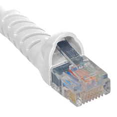 ICPCSJ14WH ICC PATCH CORD, CAT 5E, MOLDED BOOT, 14' WH