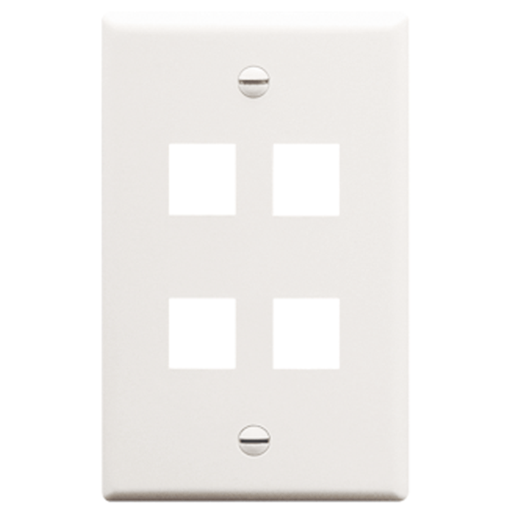 IC107F04WH ICC FACE PLATE 4 PORT WHITE
