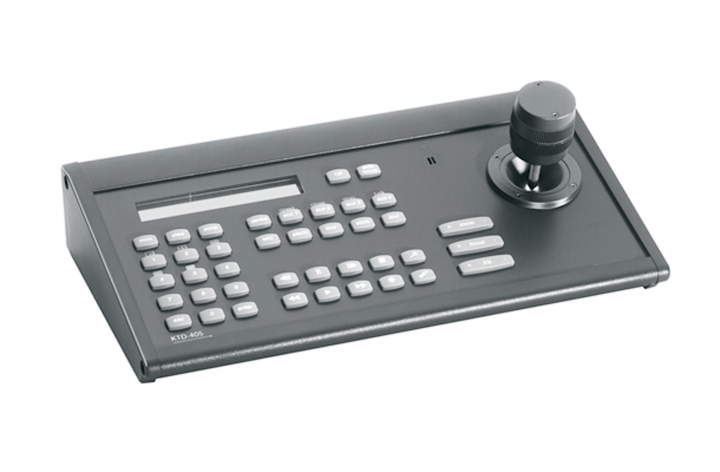 KTD-405 UTC THREE-AXIS VARIABLE-SPEED CONTROLLER KEYPAD. CONTROLS 2,048 PTZ SITES, 256 SWITCHED MONITORS, MULTIPLEXERS, DVMRE, DVR, VCR ************************* SPECIAL ORDER ITEM NO RETURNS OR SUBJECT TO RESTOCK FEE *************************