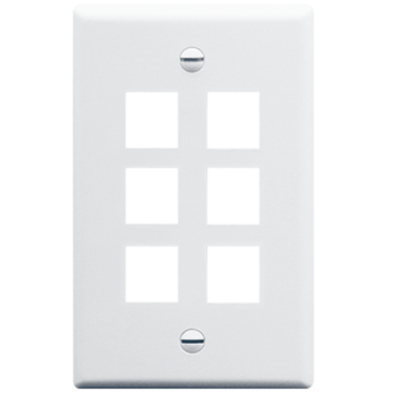 IC107F06WH ICC FACE PLATE 6 PORT WHITE