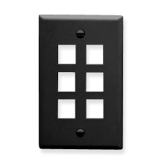 IC107F06BK ICC FACE PLATE 6 PORT BLACK ************************** CLEARANCE ITEM- NO RETURNS *****ALL SALES FINAL****** **************************