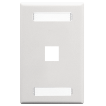 IC107S01WH ICC FACEPLATE, 1-GANG, 1-PORT, W/ STATION ID WHITE ************************* SPECIAL ORDER ITEM NO RETURNS OR SUBJECT TO RESTOCK FEE *************************
