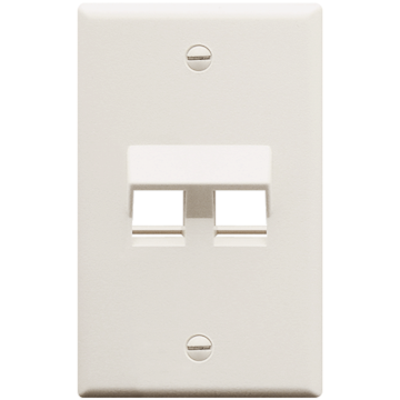 IC107DA2WH ICC FACEPLATE ANGLED 1-GANG 2-PORT - WHITE ************************* SPECIAL ORDER ITEM NO RETURNS OR SUBJECT TO RESTOCK FEE *************************
