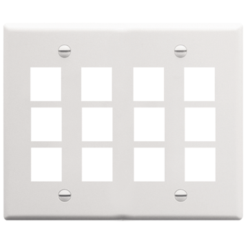 IC107F12WH ICC FACE PLATE 12 PORT WHITE