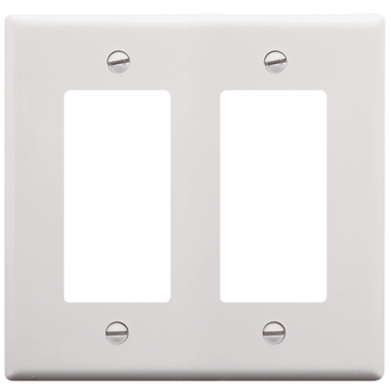 IC107DFDWH ICC DECOREX FACEPLATE DOUBLE GANG WHITE ************************** CLEARANCE ITEM- NO RETURNS *****ALL SALES FINAL****** **************************