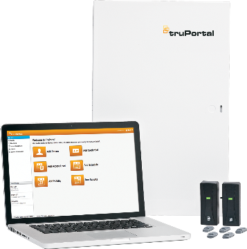 TP-SYS-2D UTC TruPortal 2-Door Base system. Consists of a TruPortal System Controller installed in UL listed enclosure w/ integrated power supply / standby battery charger.