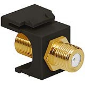 IC107B5GBK ICC MODULE, F-TYPE, GOLD PLATED, BLACK ************************** CLEARANCE ITEM- NO RETURNS *****ALL SALES FINAL****** **************************