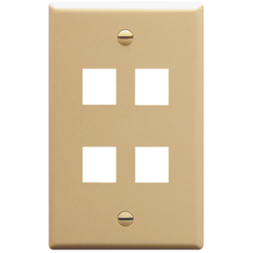 IC107F04IV ICC FACE PLATE 4 PORT IVORY