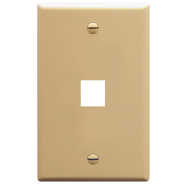 IC107F01IV ICC FACE PLATE 1 PORT IVORY