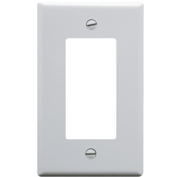 IC107DFSWH ICC DECOREX FACEPLATE SINGLE GANG WHITE