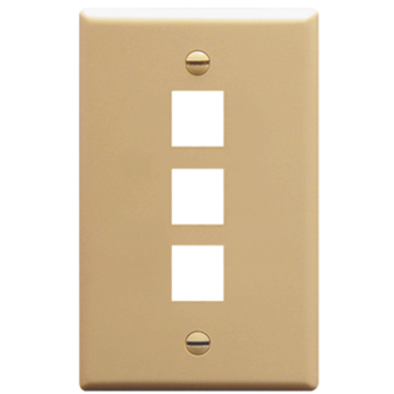 IC107F03IV ICC FACE PLATE 3 PORT IVORY