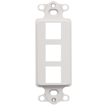 IC107DI3WH ICC DECOREX MOUNTING 3 PORT WHITE ************************** CLEARANCE ITEM- NO RETURNS *****ALL SALES FINAL****** **************************