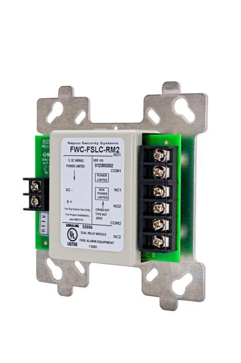 FWC-FSLC-RM2 NAPCO Addressable SLC Dual Relay Module