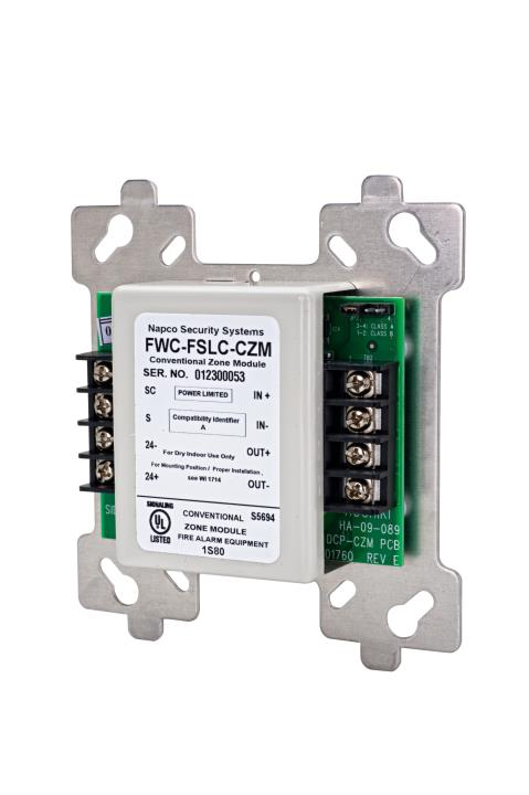 FWC-FSLC-CZM NAPCO Addressable SLC single module - REQUIRES GEMC-24VR