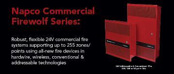 GEMC-FW-128KT NAPCO GEMC 128 Point Commercial Fire Alarm Panel Kit